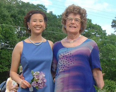Mrs. Neuls and I at April's wedding, 2004, This is the last photo I have with her before she passed away January 2012.